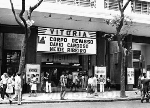 12.03.1981 - Frederico Secco - Fachada do cinema Vitóriana no Centro 12.03.1981 - Frederico Secco  - Front of  Cinema Vitória at downtown