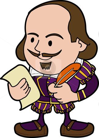 crescendo-clipart-cutcaster-photo-100224258-Illustration-of-Shakespeare