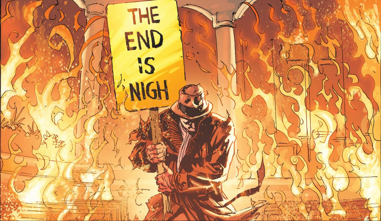 Image result for the end is nigh rorschach